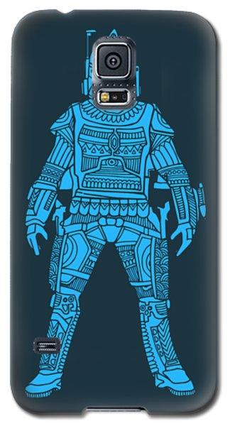 Boba Fett - Star Wars Art, Blue Galaxy S5 Case
