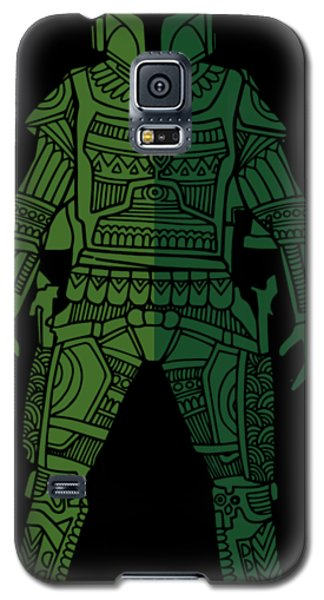 Star Wars Galaxy S5 Case - Boba Fett - Star Wars Art, Green 02 by Studio Grafiikka