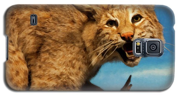 Galaxy S5 Case featuring the digital art Bobcat On A Branch by Chris Flees