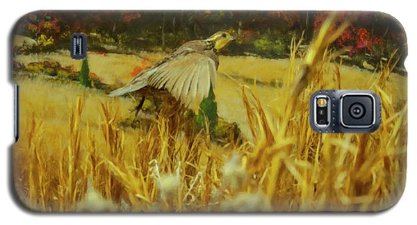 Galaxy S5 Case featuring the digital art Bobwhite In Flight by Chris Flees