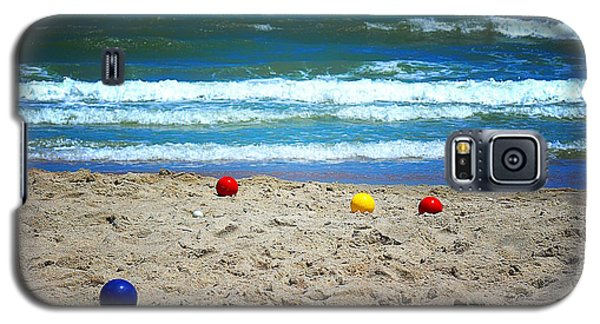 Galaxy S5 Case featuring the photograph Bocce On The Beach by Greg Simmons