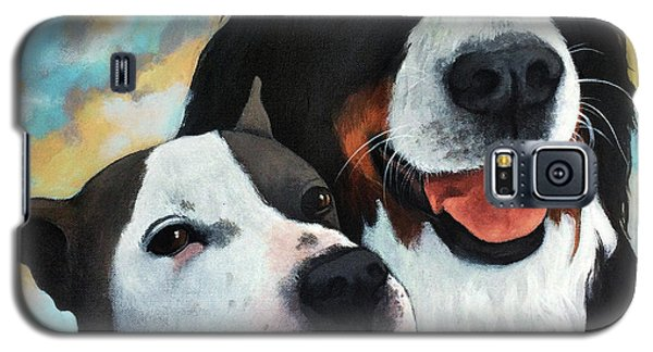 Bodhi And Lily  Pet Portrait Galaxy S5 Case