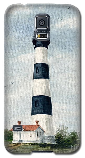 Galaxy S5 Case featuring the painting Bodie Island Lighthouse by Nancy Patterson