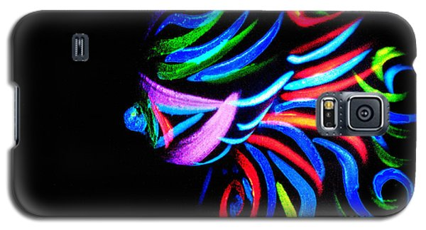 Galaxy S5 Case featuring the painting Body Art Breast by Tbone Oliver
