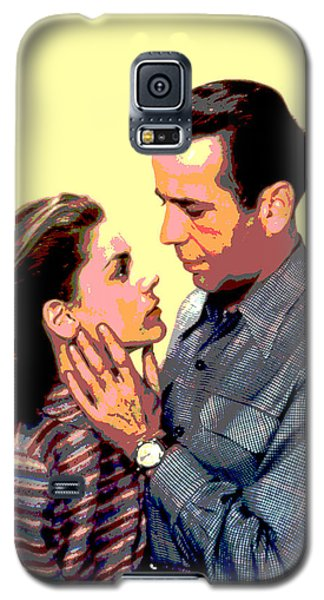 Galaxy S5 Case featuring the mixed media Bogart And Bacall by Charles Shoup