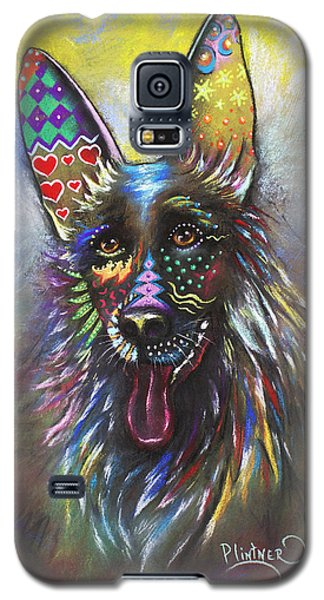 Galaxy S5 Case featuring the mixed media German Shepherd by Patricia Lintner