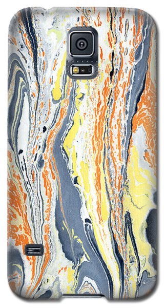 Galaxy S5 Case featuring the painting Boiling Lava by Menega Sabidussi