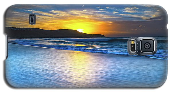 Bold And Blue Sunrise Seascape Galaxy S5 Case