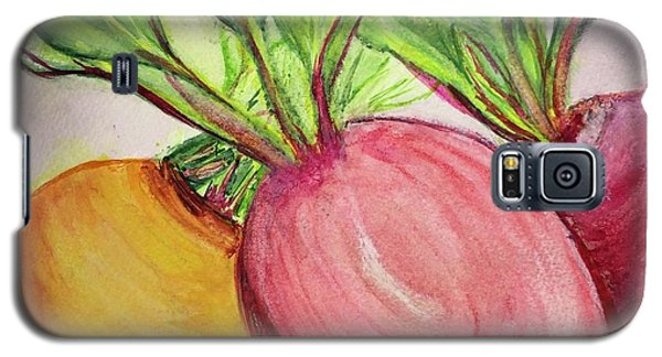 Galaxy S5 Case featuring the painting Bold Beets by Kim Nelson