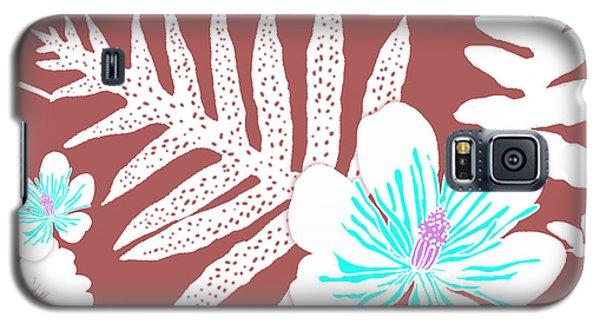 Bold Fern Floral - Dusty Cedar Galaxy S5 Case