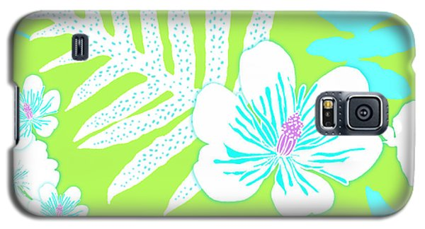 Bold Fern Floral - Lime Galaxy S5 Case