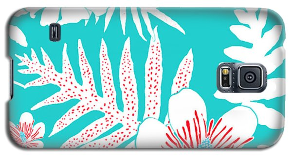 Bold Fern Floral - Turquoise Galaxy S5 Case
