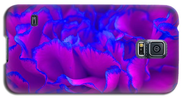 Bold Fuschia Pink And Blue Carnation Flower Galaxy S5 Case