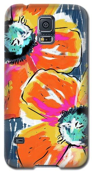 Bold Orange Poppies- Art By Linda Woods Galaxy S5 Case by Linda Woods