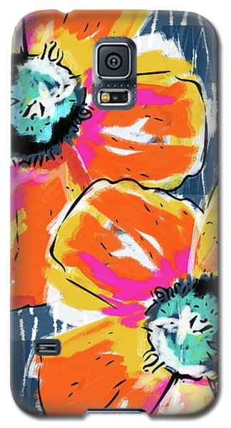 Bold Orange Poppies- Art By Linda Woods Galaxy S5 Case by Linda Woods