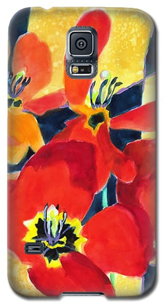 Bold Quilted Tulips Galaxy S5 Case