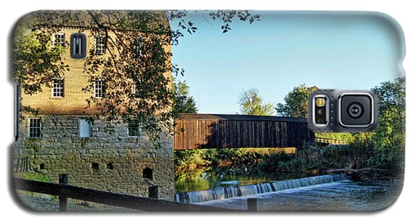 Galaxy S5 Case featuring the photograph Bollinger Mill And Bridge by Cricket Hackmann