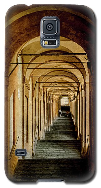 Galaxy S5 Case featuring the photograph Bologna, Italy - Stepped Portico by Mark Forte