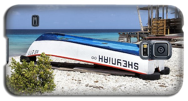 Galaxy S5 Case featuring the photograph Bonaire. The Old Boat by Yelena Rozov