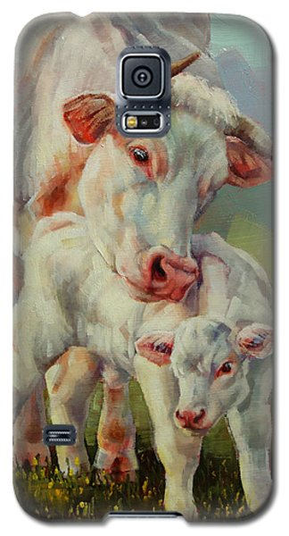 Bonded Cow And Calf Galaxy S5 Case by Margaret Stockdale