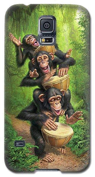 Drum Galaxy S5 Case - Bongo In The Jungle by Mark Fredrickson