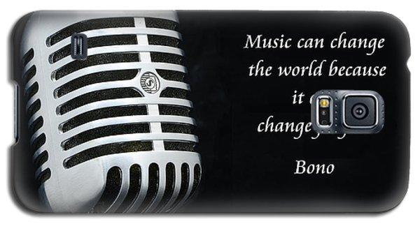 Bono On Music Galaxy S5 Case by Paul Ward