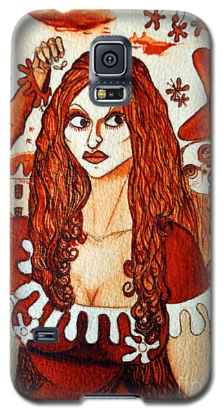 Galaxy S5 Case featuring the painting Boor People And Girl by Don Pedro De Gracia