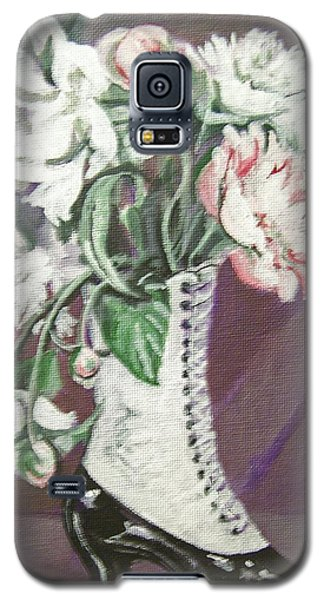 Booted Peonies Galaxy S5 Case