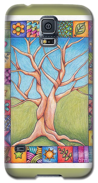 Galaxy S5 Case featuring the drawing Border Of Life by Terry Taylor