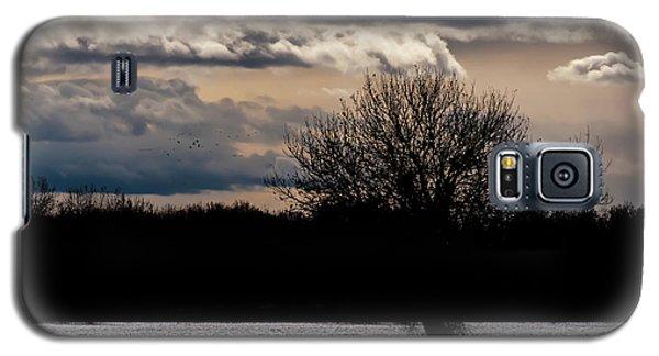 Galaxy S5 Case featuring the photograph Bosque Sunset by Britt Runyon