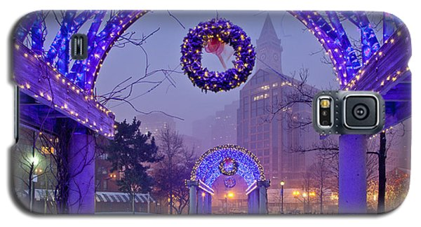 Boston Blue Christmas Galaxy S5 Case