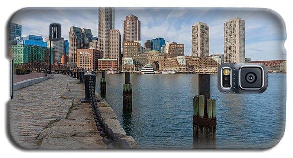 Boston Cityscape From The Seaport District 3 Galaxy S5 Case