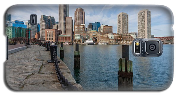 Boston Cityscape From The Seaport District 3 Galaxy S5 Case