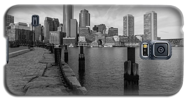 Boston Cityscape From The Seaport District In Black And White Galaxy S5 Case