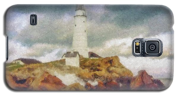 Boston Light On A Stormy Day Galaxy S5 Case