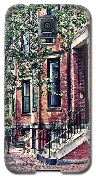 Boston Ma - Walking The Dog On Mount Vernon Street Galaxy S5 Case