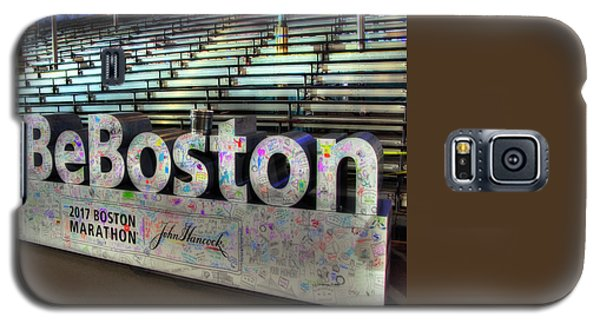 Galaxy S5 Case featuring the photograph Boston Marathon Sign by Joann Vitali