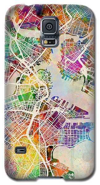 Boston Galaxy S5 Case - Boston Massachusetts Street Map by Michael Tompsett