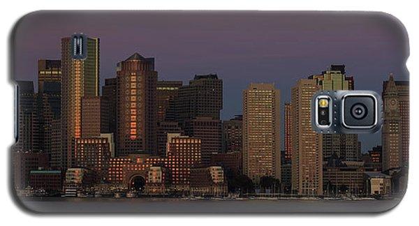 Boston Moonset And Sunrise Galaxy S5 Case