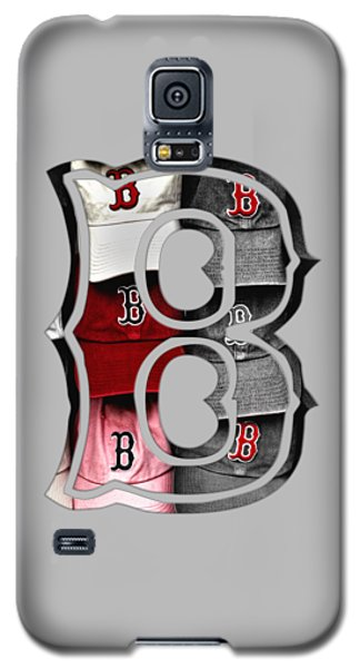 Boston Red Sox B Logo Galaxy S5 Case by Joann Vitali