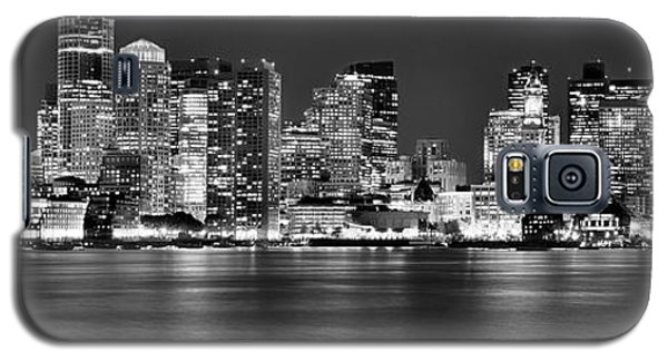 Boston Skyline At Night Panorama Black And White Galaxy S5 Case
