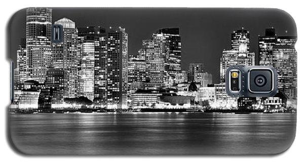 Boston Skyline At Night Panorama Black And White Galaxy S5 Case