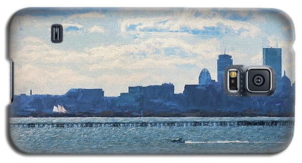 Boston Skyline From Deer Island Galaxy S5 Case