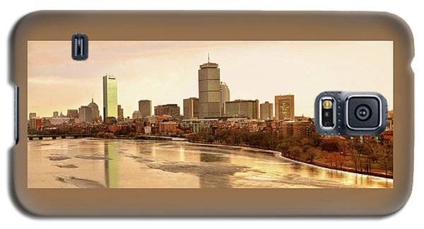 Boston Skyline On A December Morning Galaxy S5 Case by Mitchell R Grosky