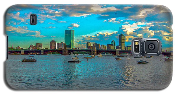 Boston Skyline Painting Effect Galaxy S5 Case