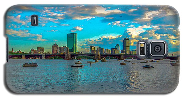 Boston Skyline Painting Effect Galaxy S5 Case