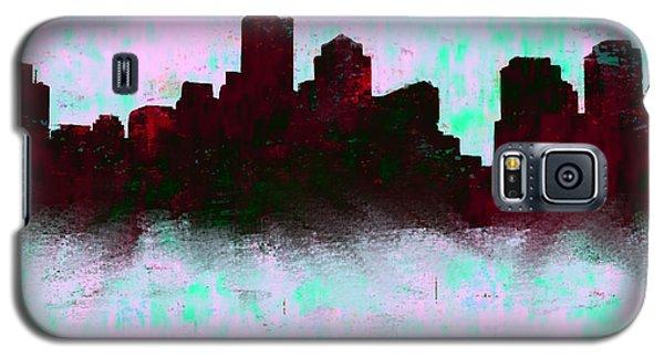 Boston Skyline Sky Blue  Galaxy S5 Case by Enki Art