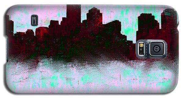 Ben Affleck Galaxy S5 Case - Boston Skyline Sky Blue  by Enki Art