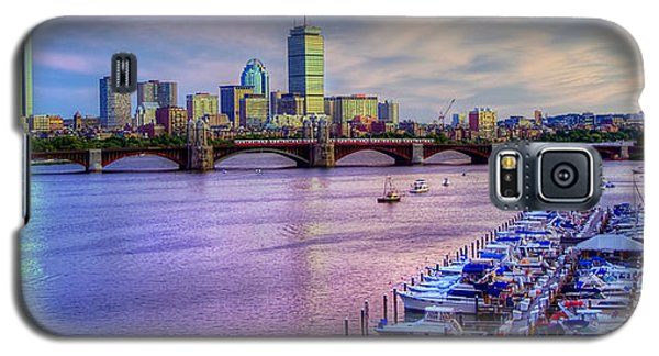 Boston Skyline Sunset Galaxy S5 Case by Joann Vitali