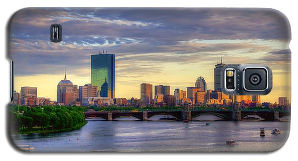 Boston Skyline Sunset Over Back Bay Galaxy S5 Case by Joann Vitali